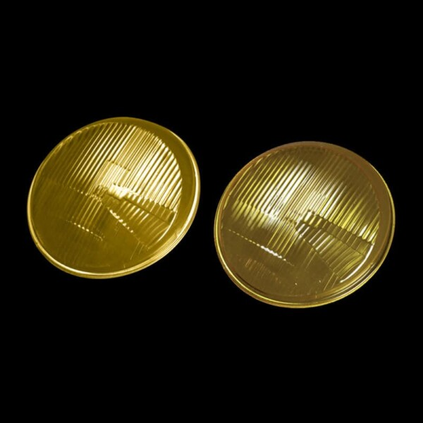 Porsche 911 Headlamp Lenses - Yellow
